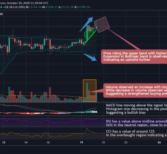 Mudrex 4Hr Price Analysis #230 Bitcoin (BTC/USD) – 20th October 2020