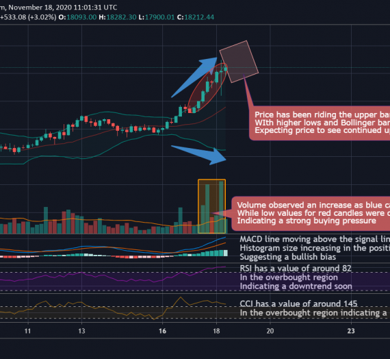 Mudrex 4Hr Price Analysis #257 Bitcoin (BTC/USD) – 18th November 2020