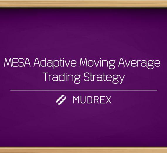 MESA Adaptive Moving Average Trading Strategy